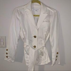 Diane Von Furstenberg linen blend jacket for suit